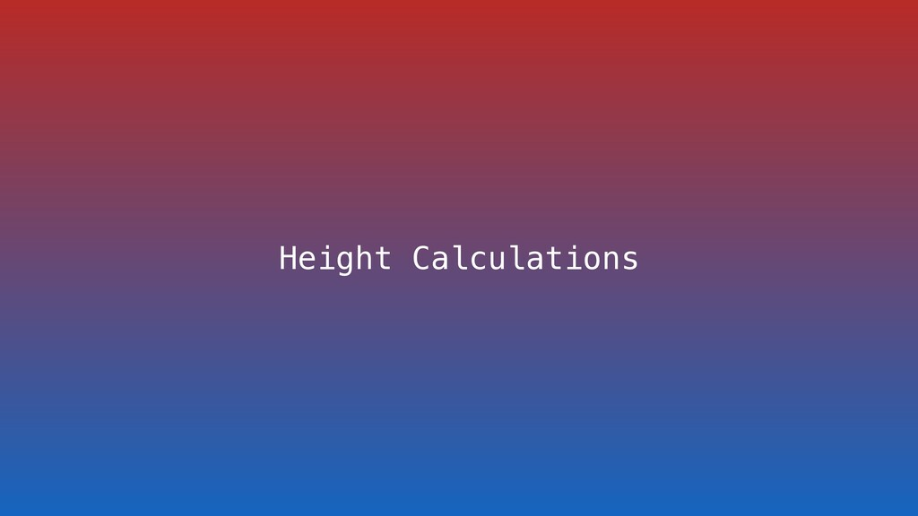 Height Calculations