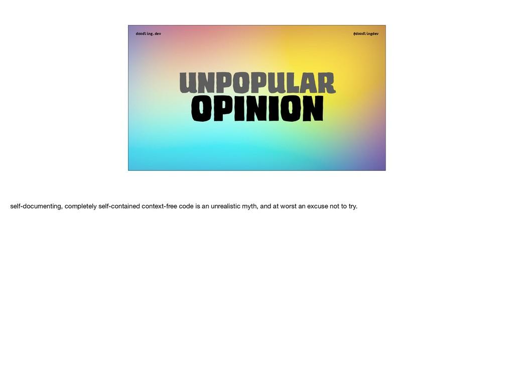 doodling.dev @doodlingdev Unpopular opinion sel...