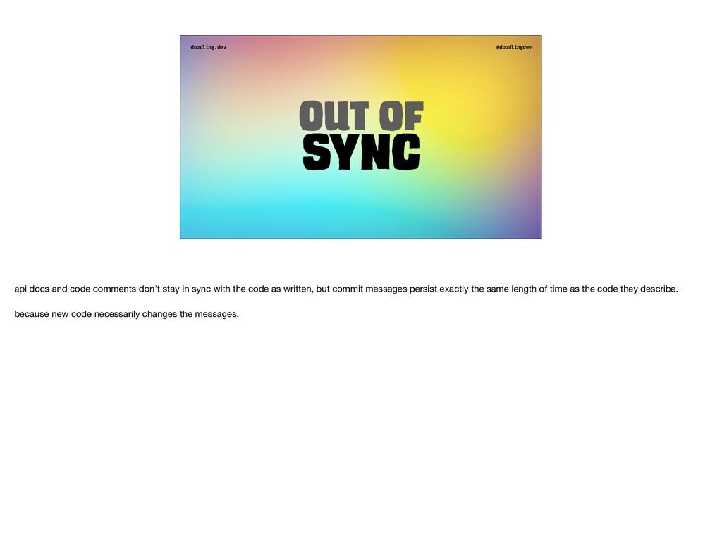 doodling.dev @doodlingdev Out of Sync api docs ...