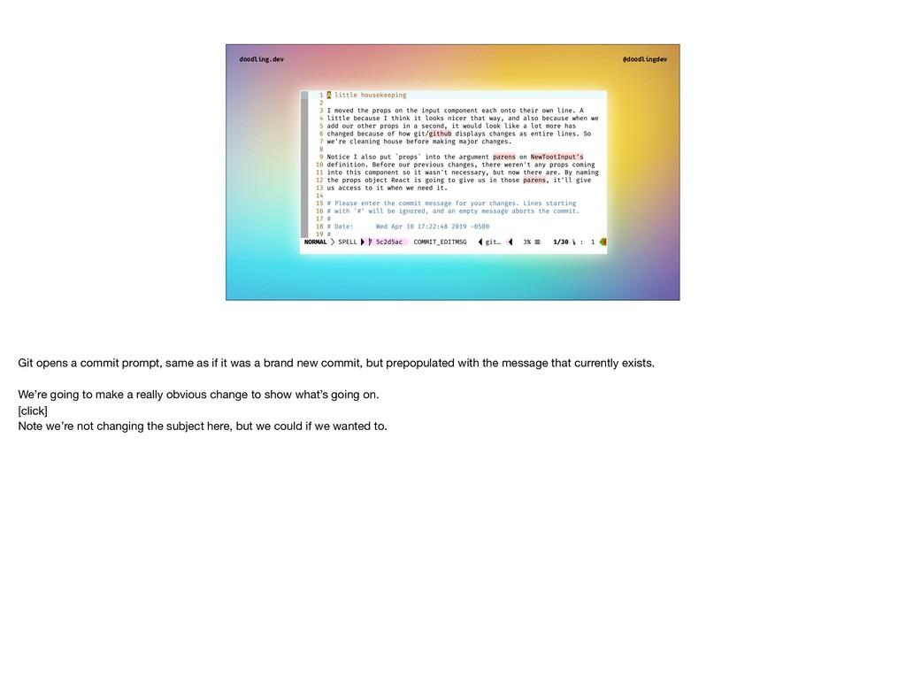 doodling.dev @doodlingdev Git opens a commit pr...