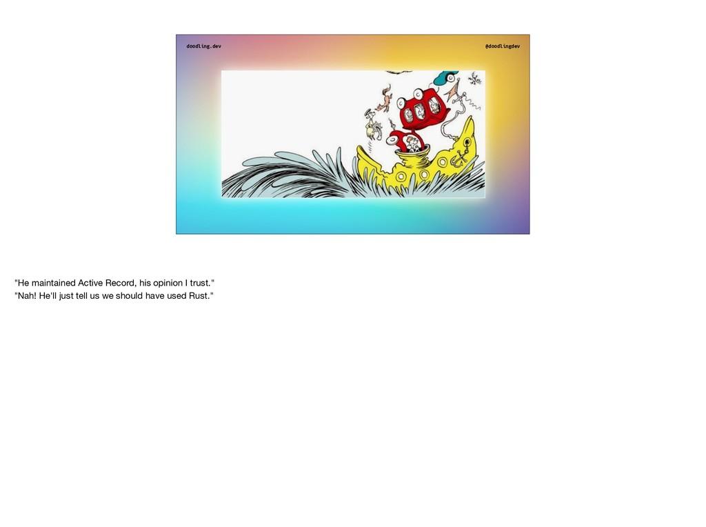 """doodling.dev @doodlingdev """"He maintained Active..."""