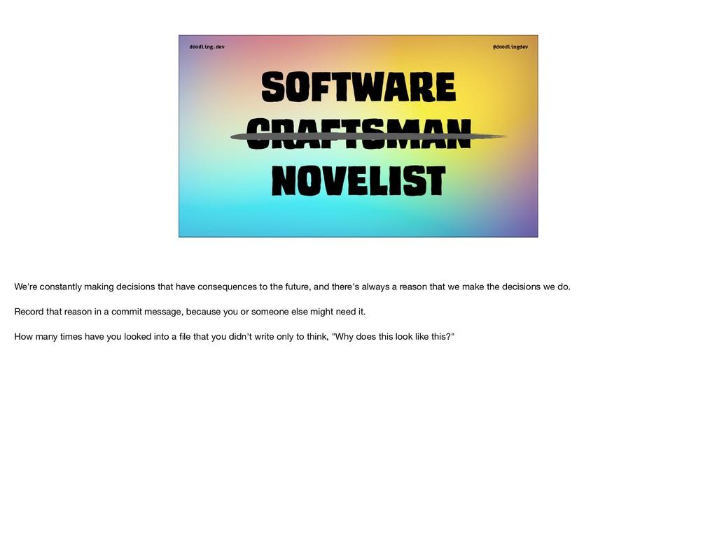 doodling.dev @doodlingdev Software Craftsman no...
