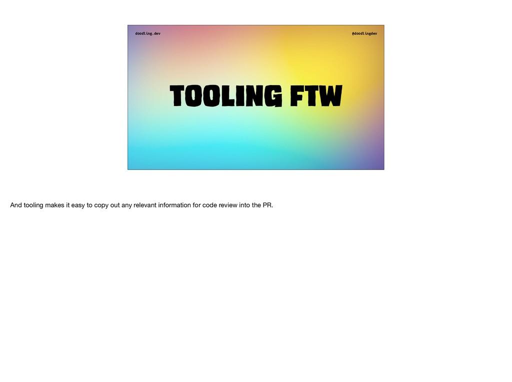 doodling.dev @doodlingdev Tooling ftw And tooli...