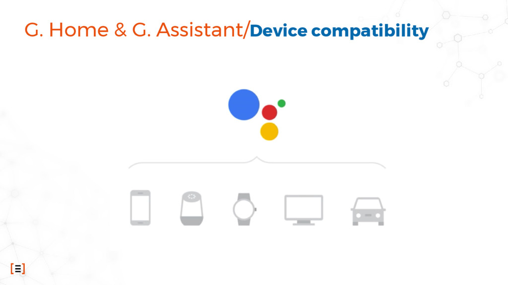 G. Home & G. Assistant/Device compatibility