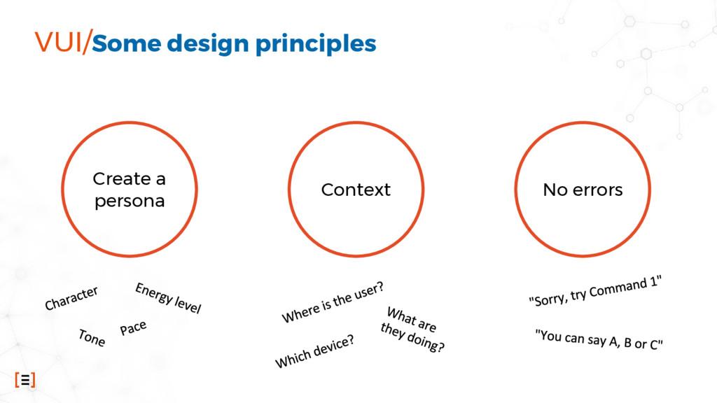 VUI/Some design principles Create a persona Con...