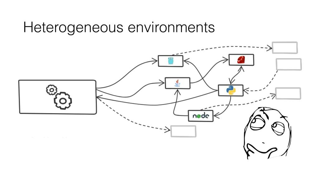 Heterogeneous environments