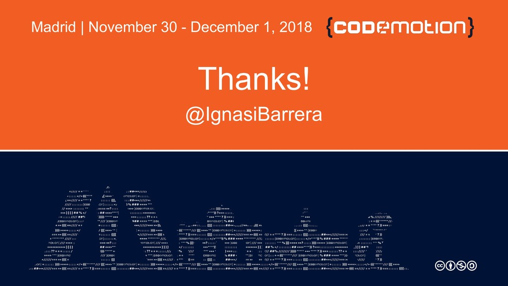 Thanks! @IgnasiBarrera Madrid | November 30 - D...