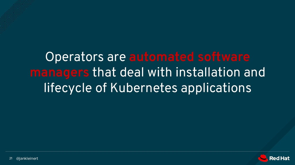 @jankleinert 21 Operators are automated softwar...