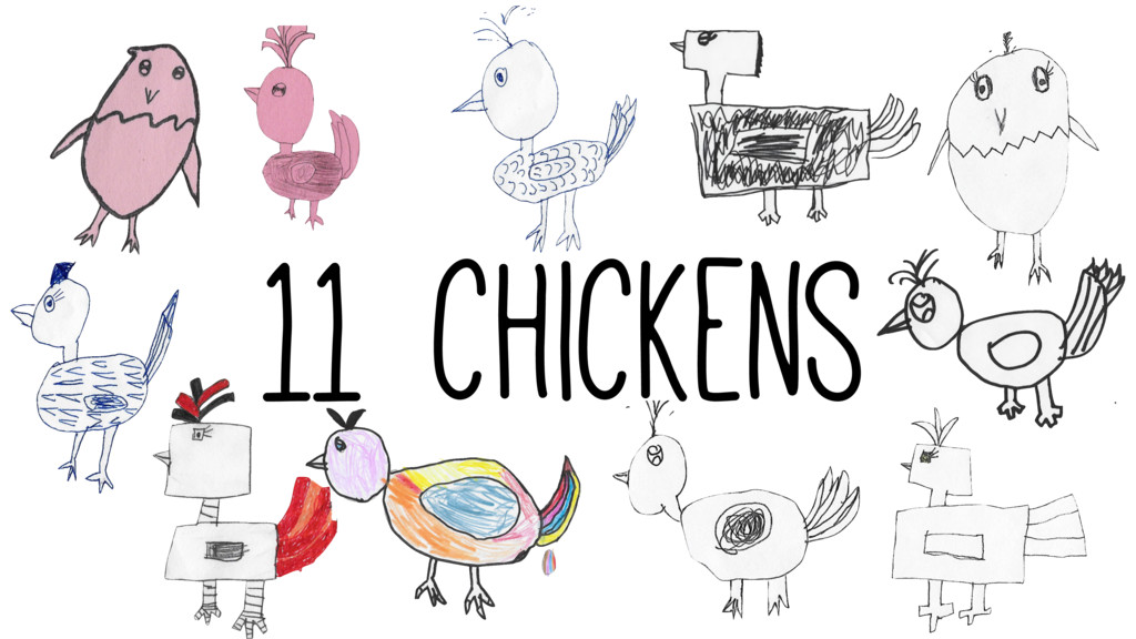 11 chickens