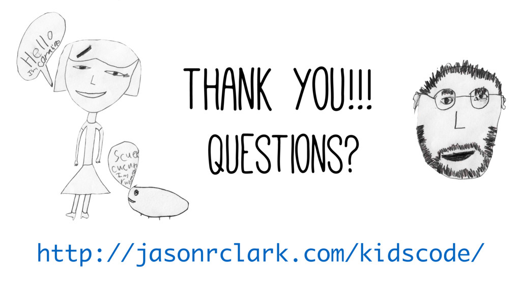 Thank you!!! Questions? http://jasonrclark.com/...
