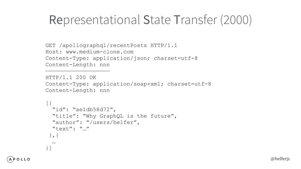 Representational State Transfer (2000) GET /apo...