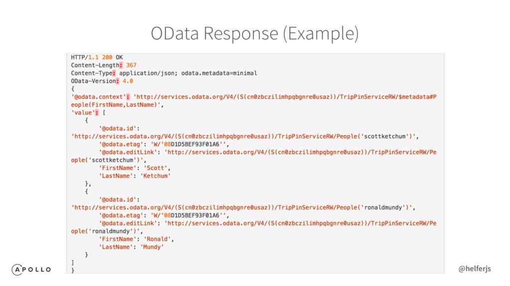 OData Response (Example) @helferjs