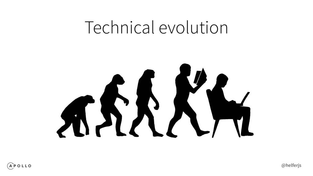 Technical evolution @helferjs