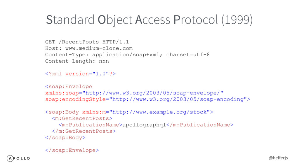 Standard Object Access Protocol (1999) GET /Rec...
