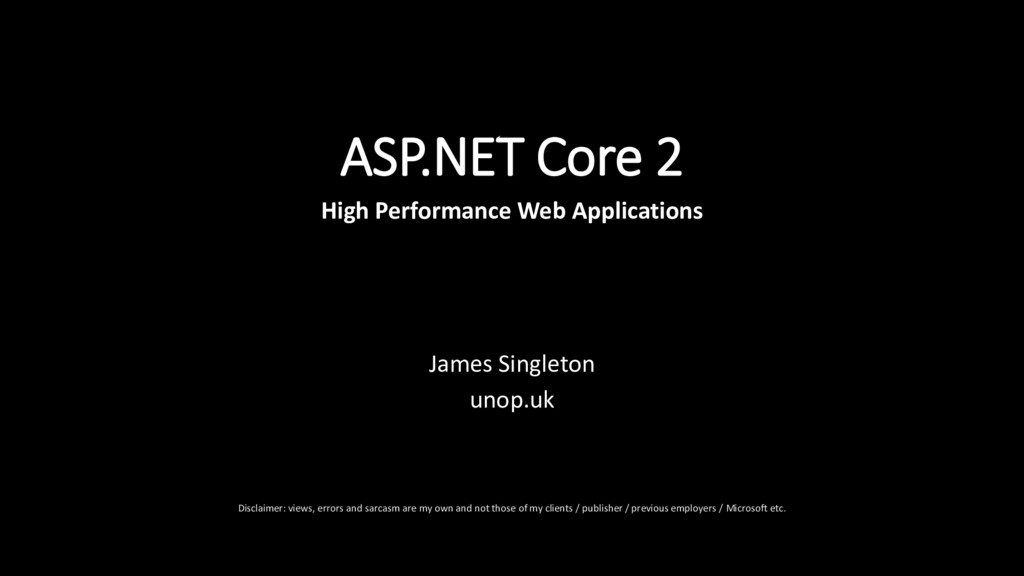 ASP.NET Core 2 High Performance Web Application...