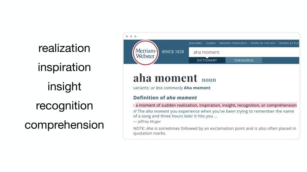 realization inspiration insight recognition com...