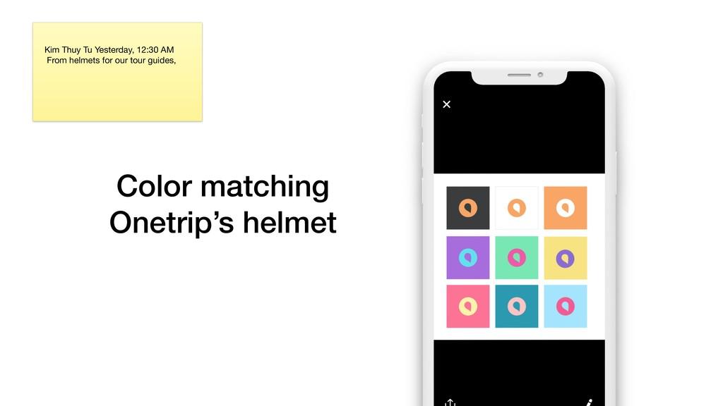 Color matching Onetrip's helmet Kim Thuy Tu Ye...