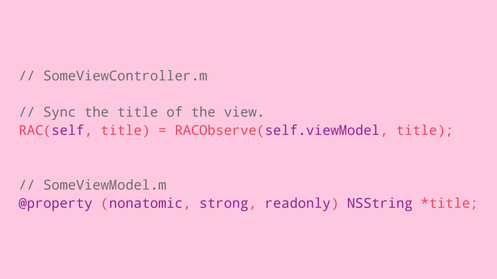 // SomeViewController.m // Sync the title of th...