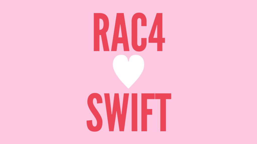RAC4 — SWIFT