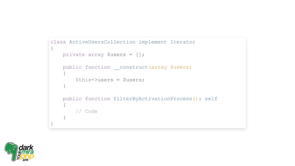 class ActiveUsersCollection implement Iterator ...