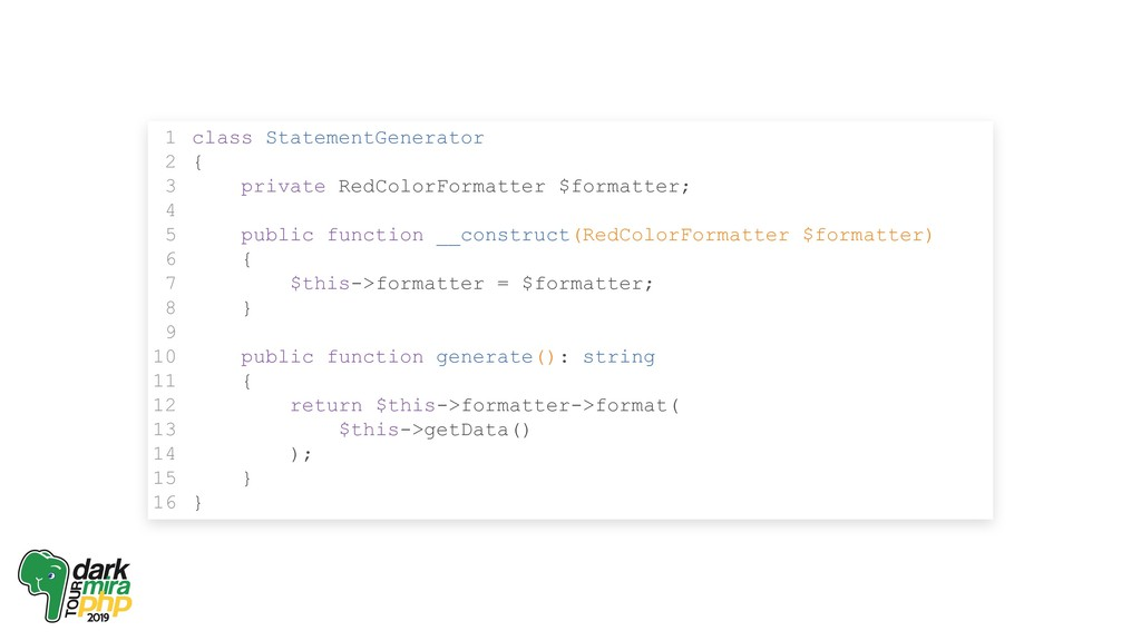class StatementGenerator { private RedColorForm...