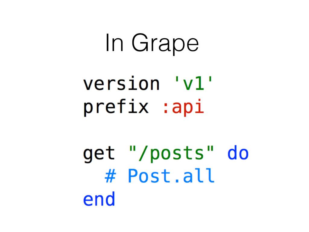 In Grape