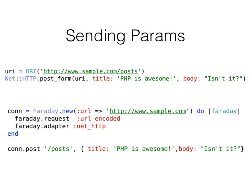Sending Params