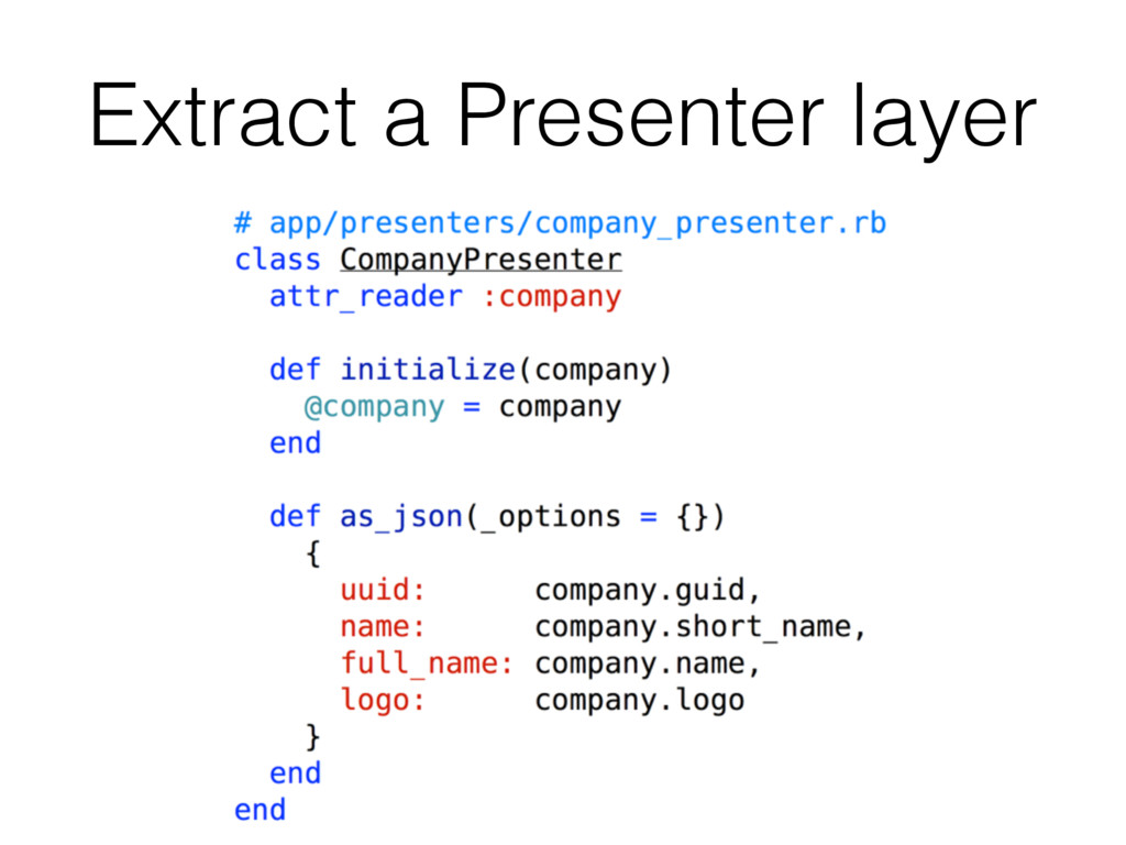 Extract a Presenter layer