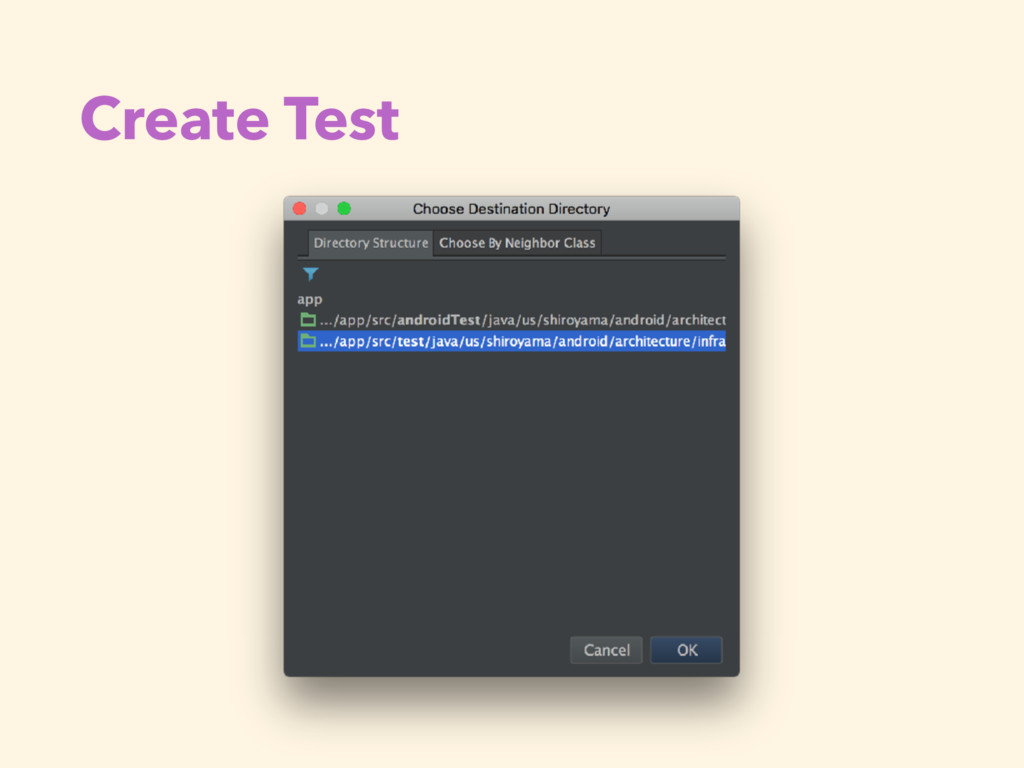 Create Test