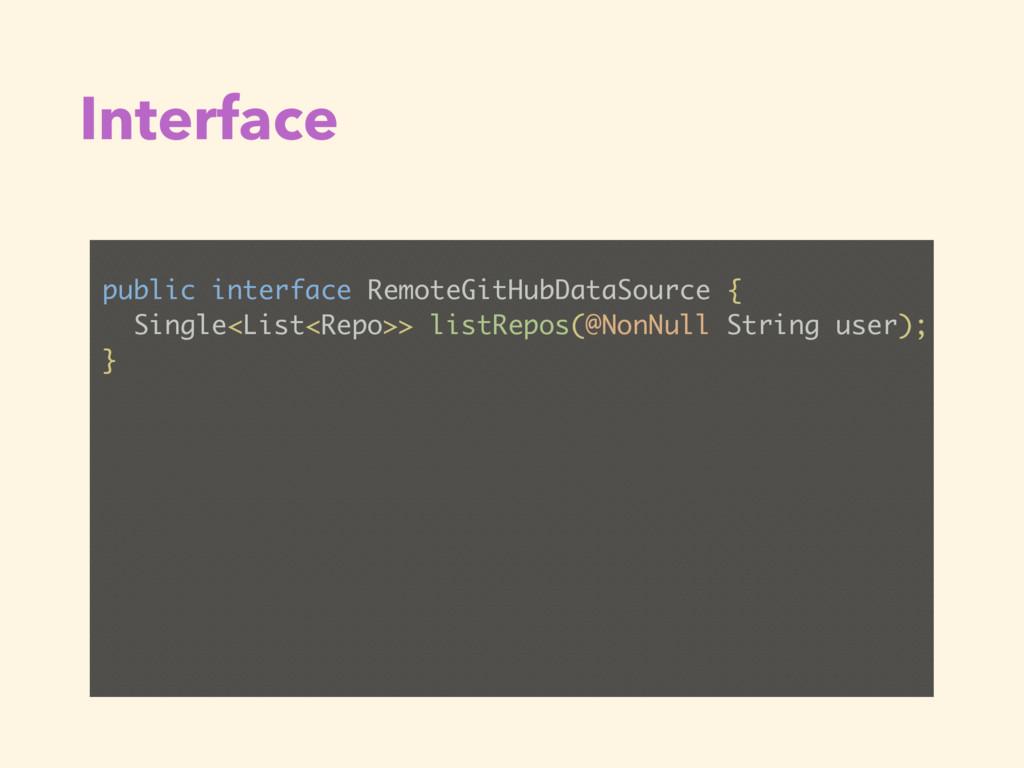 Interface public interface RemoteGitHubDataSour...