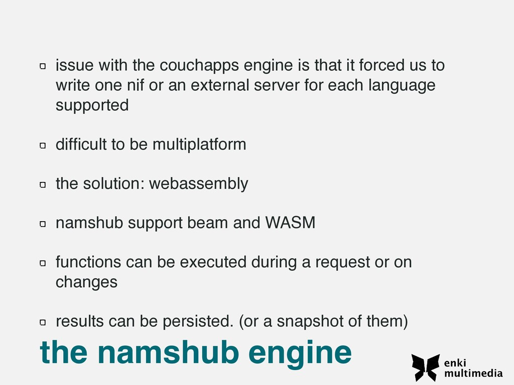 issue with the couchapps engine is that it forc...