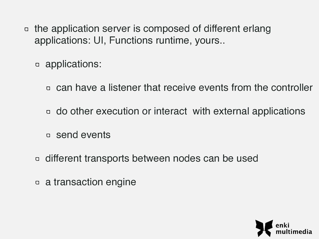 the application server is composed of different...