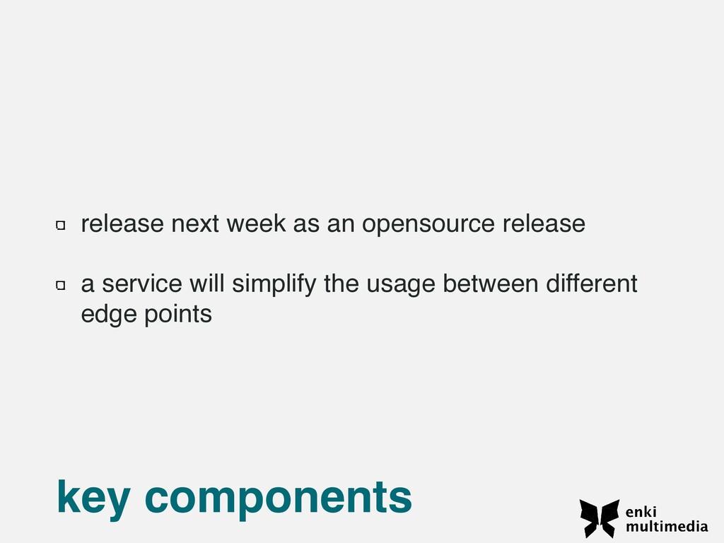 release next week as an opensource releas e  a ...