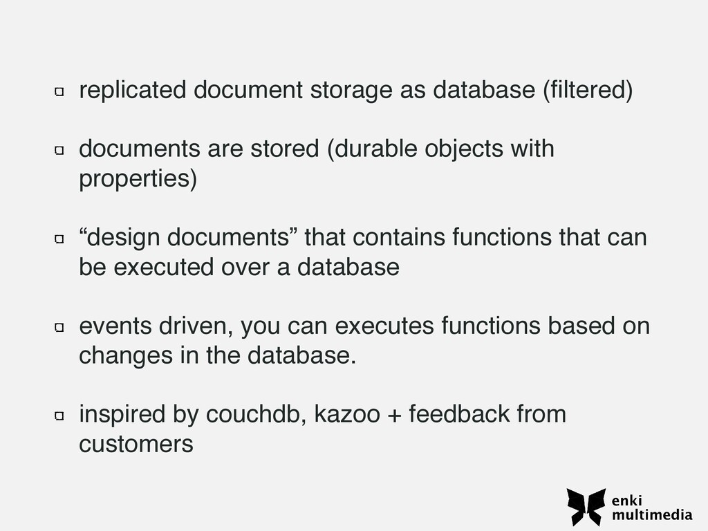 replicated document storage as database ( fi lt...