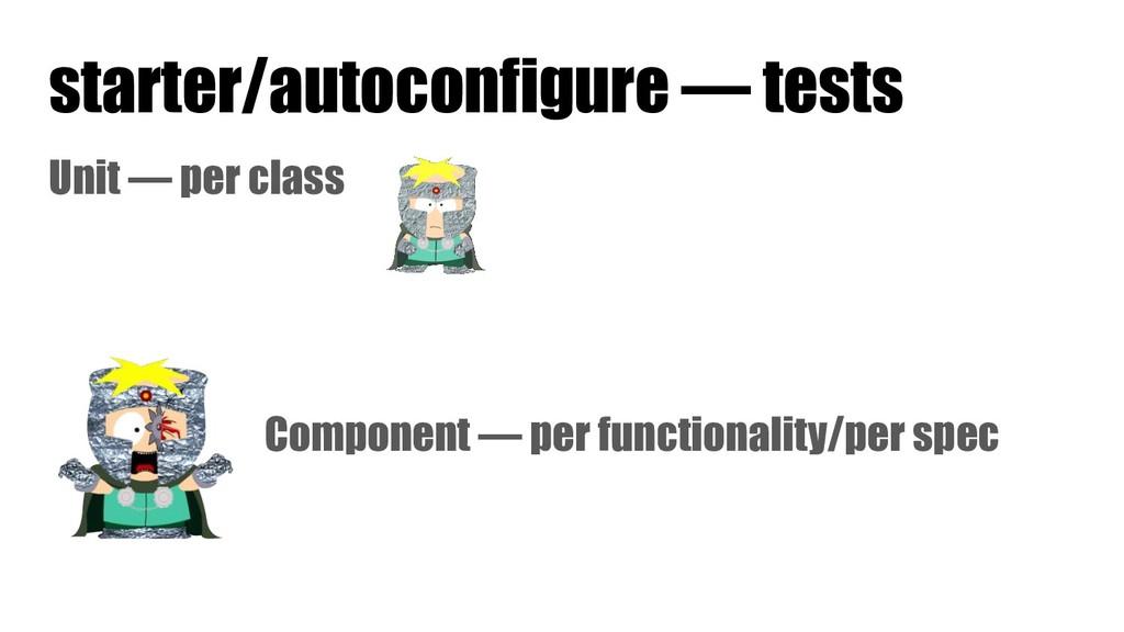 starter/autoconfigure — tests Unit — per class ...