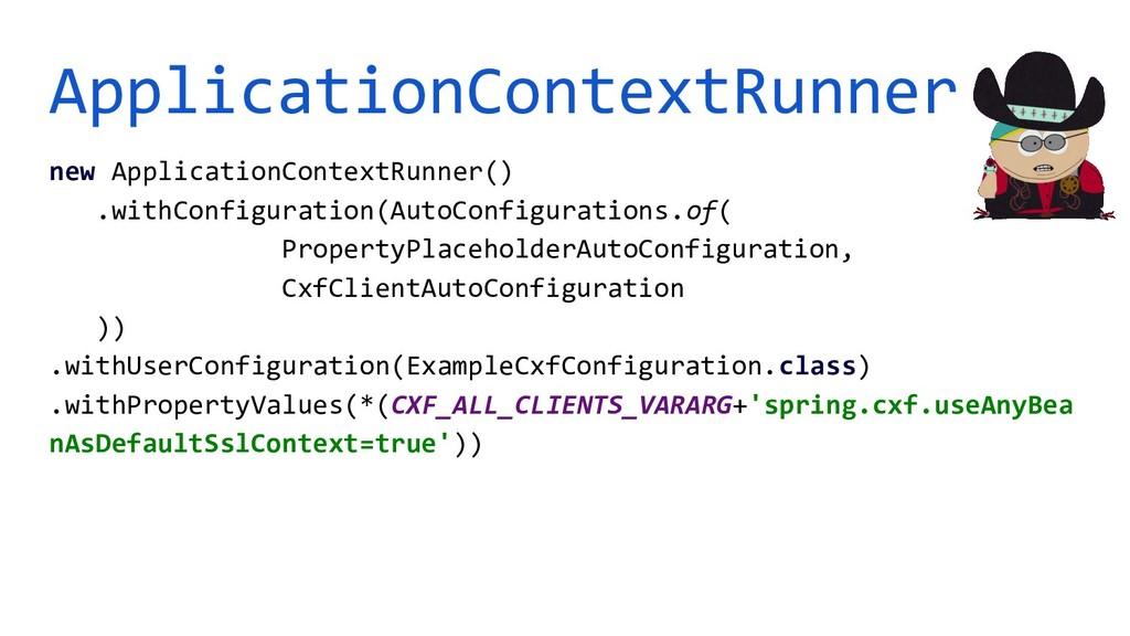 ApplicationContextRunner new ApplicationContext...