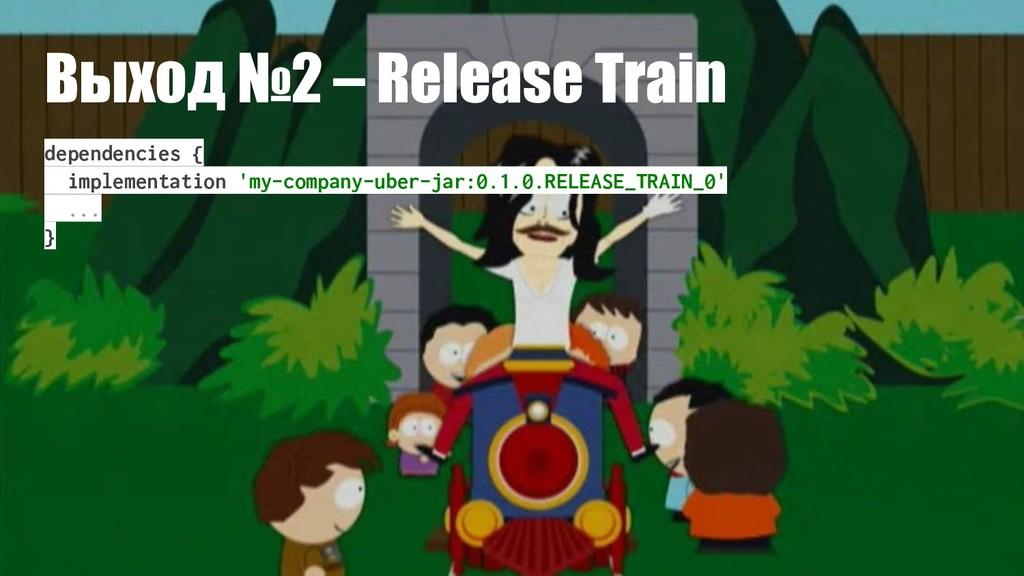 Выход №2 – Release Train dependencies { impleme...