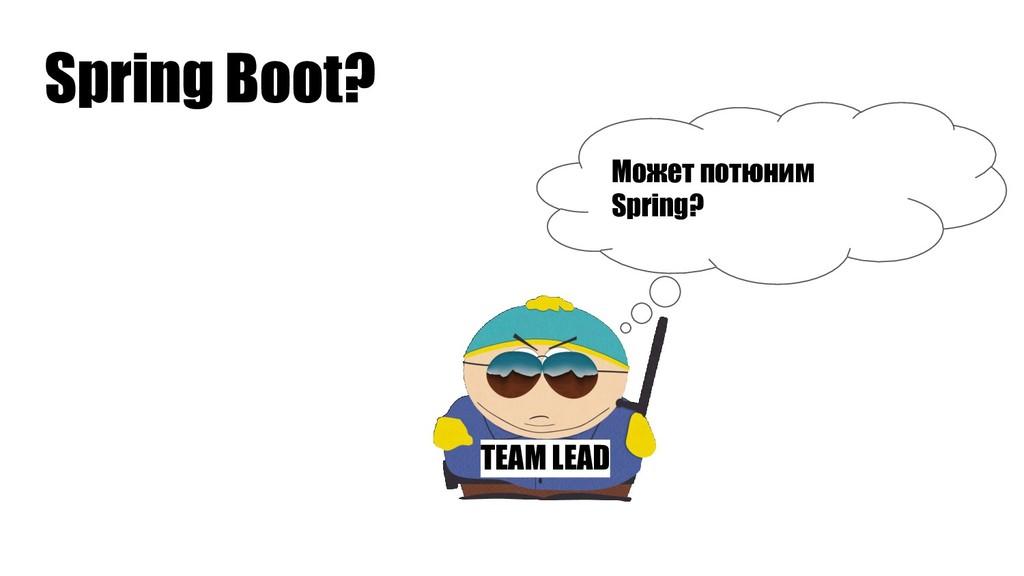 TEAM LEAD Может потюним Spring? Spring Boot?
