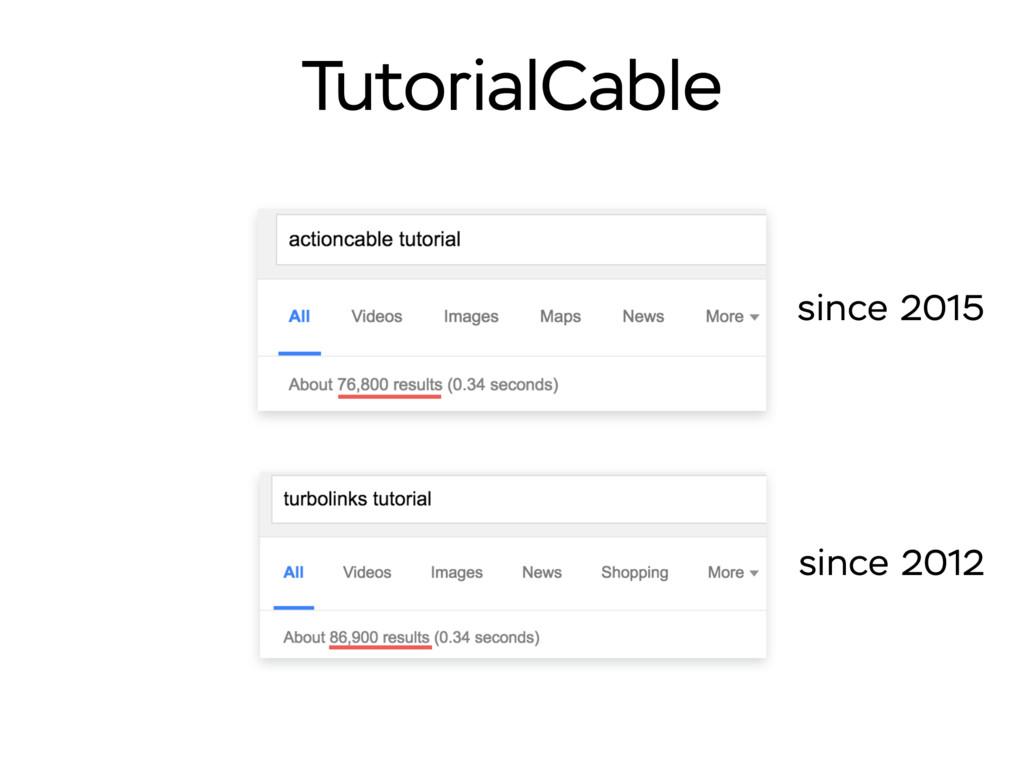 since 2012 TutorialCable since 2015