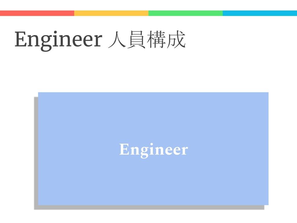 Engineer 人員構成 Engineer