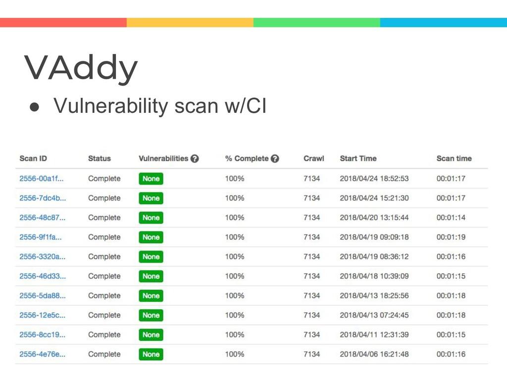 VAddy ● Vulnerability scan w/CI