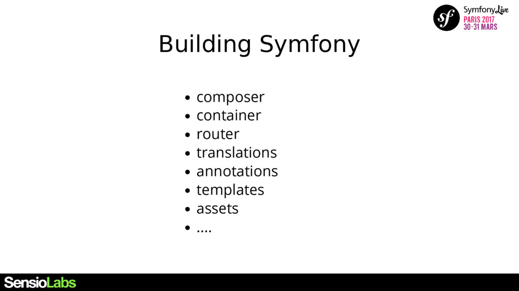 Building Symfony composer container router tran...