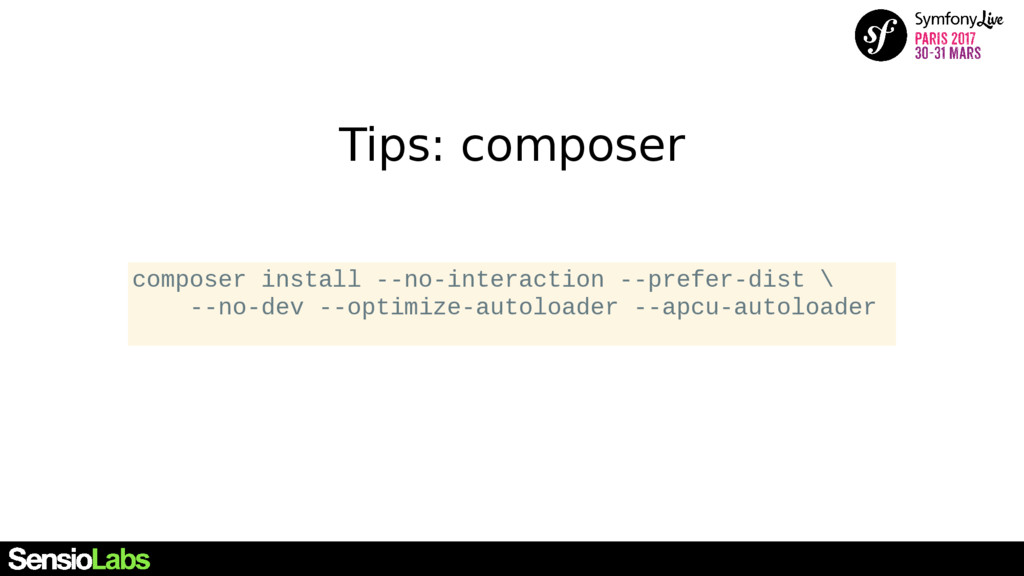 Tips: composer composer install --no-interactio...