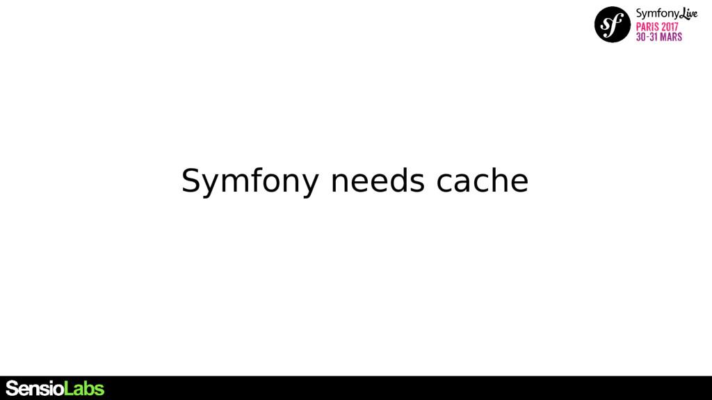 Symfony needs cache