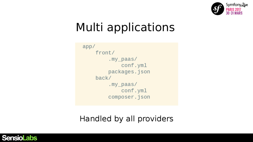 Multi applications Handled by all providers app...