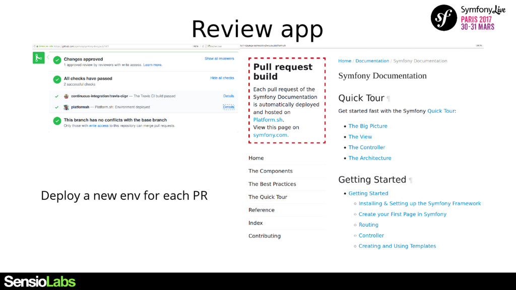 Review app Deploy a new env for each PR