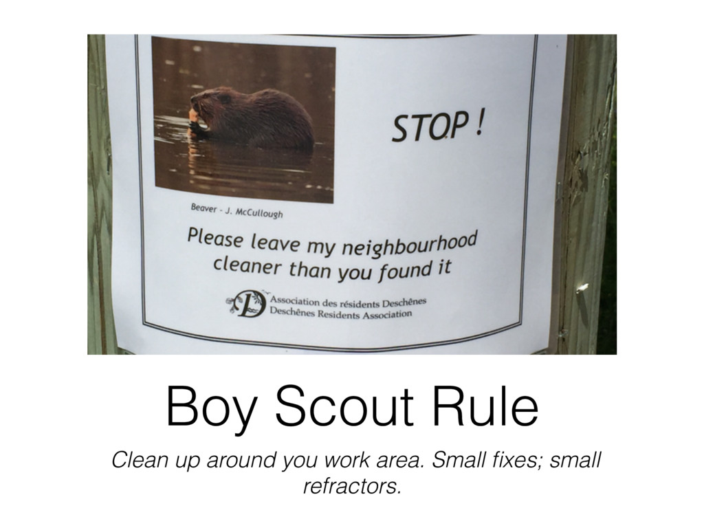 Boy Scout Rule Clean up around you work area. S...
