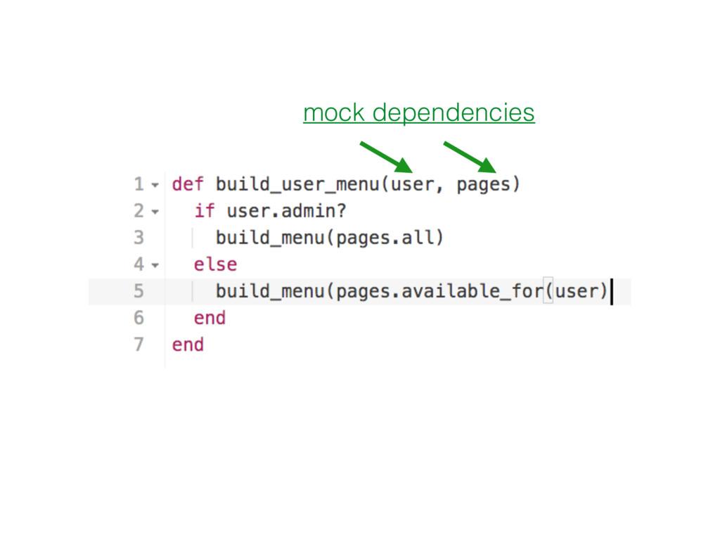 mock dependencies