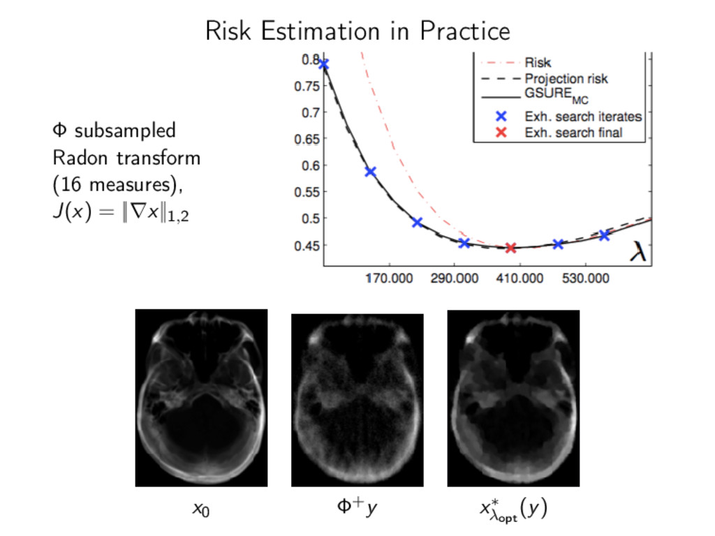 Risk Estimation in Practice Φ subsampled Radon ...