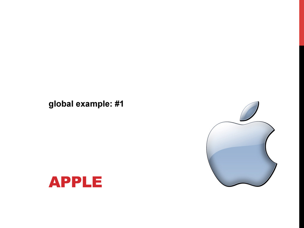 APPLE global example: #1